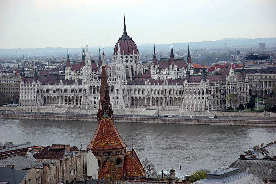 View of Parliament from Buda Castle on Buda side