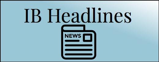 IB Headlines written on a blue rectangle