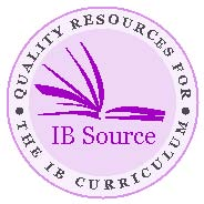 IB Source with words circling the middle: quality resources for the IB curriculum