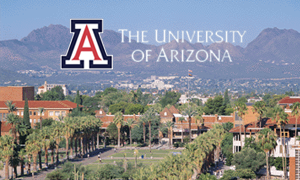 The University of Arizona with a view of the mountains
