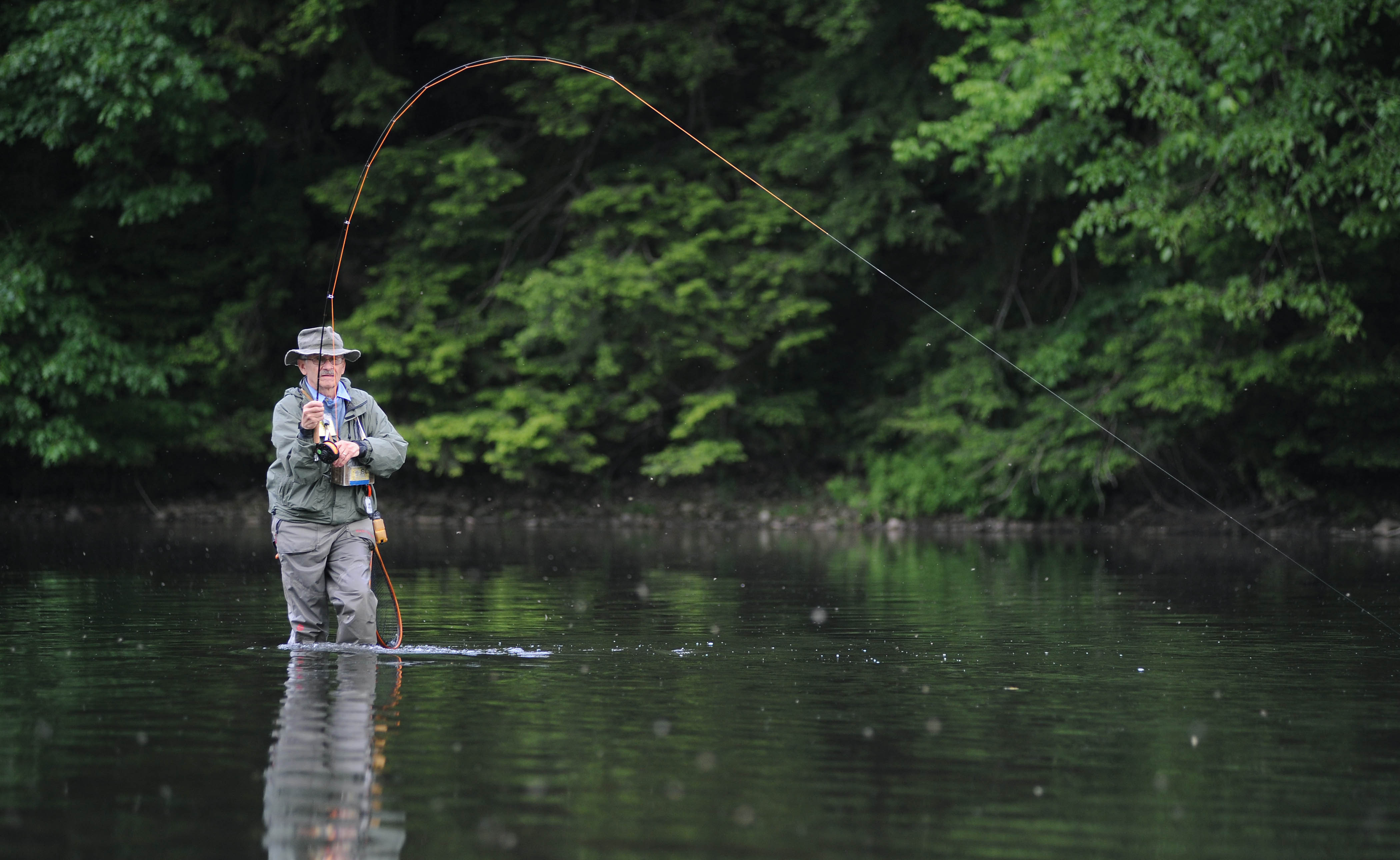 Fly fishing casting silhouette for Fly fishing casting
