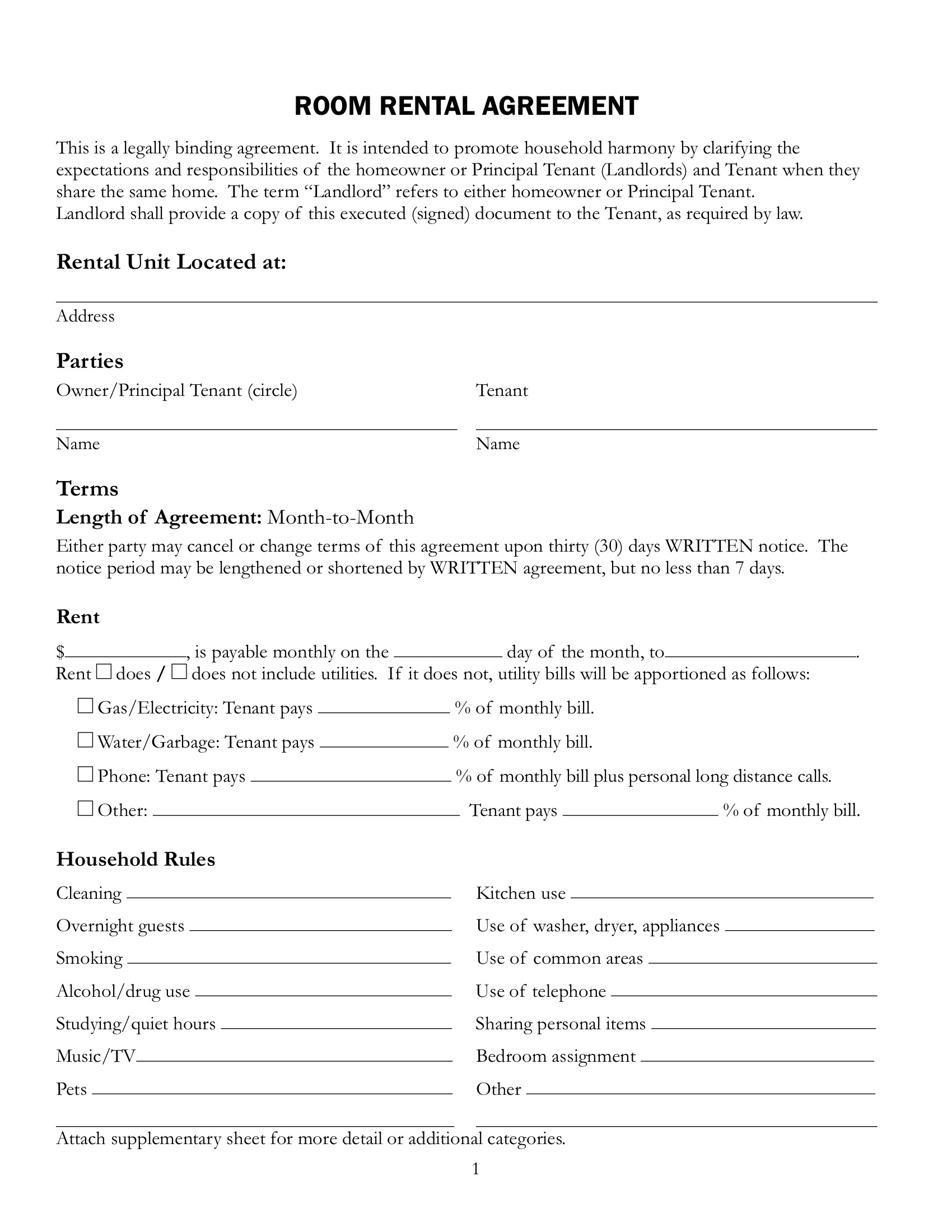 Rent A Room Contract Project Executive Summary Template Printable . Contact    801 NATIONAL CITY BLVD.   NATIONAL CITY