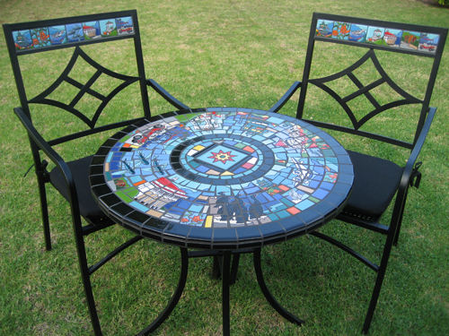Image Description. Mosaic Bistro Table ...