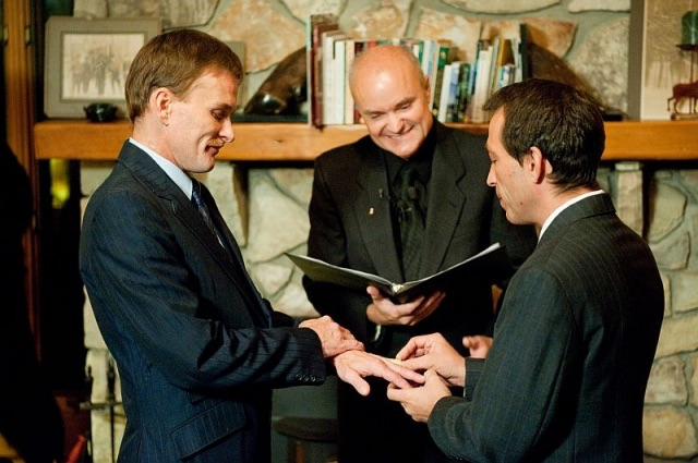 Greg Trulson, Justice of the Peace, Officiant, First gay marriage in Vermont; Moose Meadow Lodge