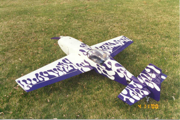 Scratch built Extra 300. Awesome plane. 100's of flights. Battery failure caused me to buy a boat.