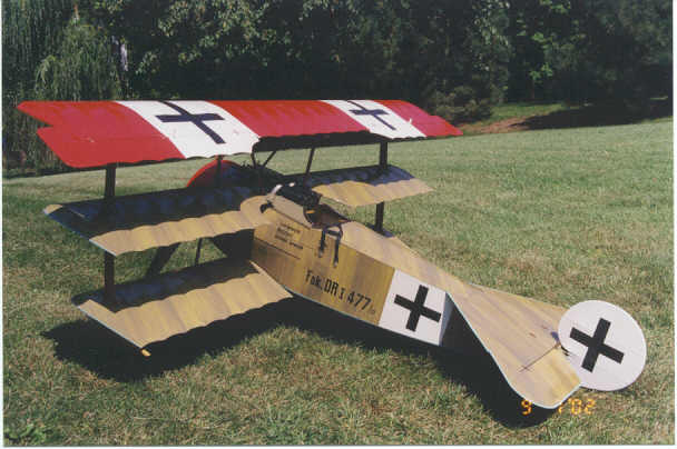 Museum scale. Manfred Von Richthofen in one brief period in history before the plane was all red.