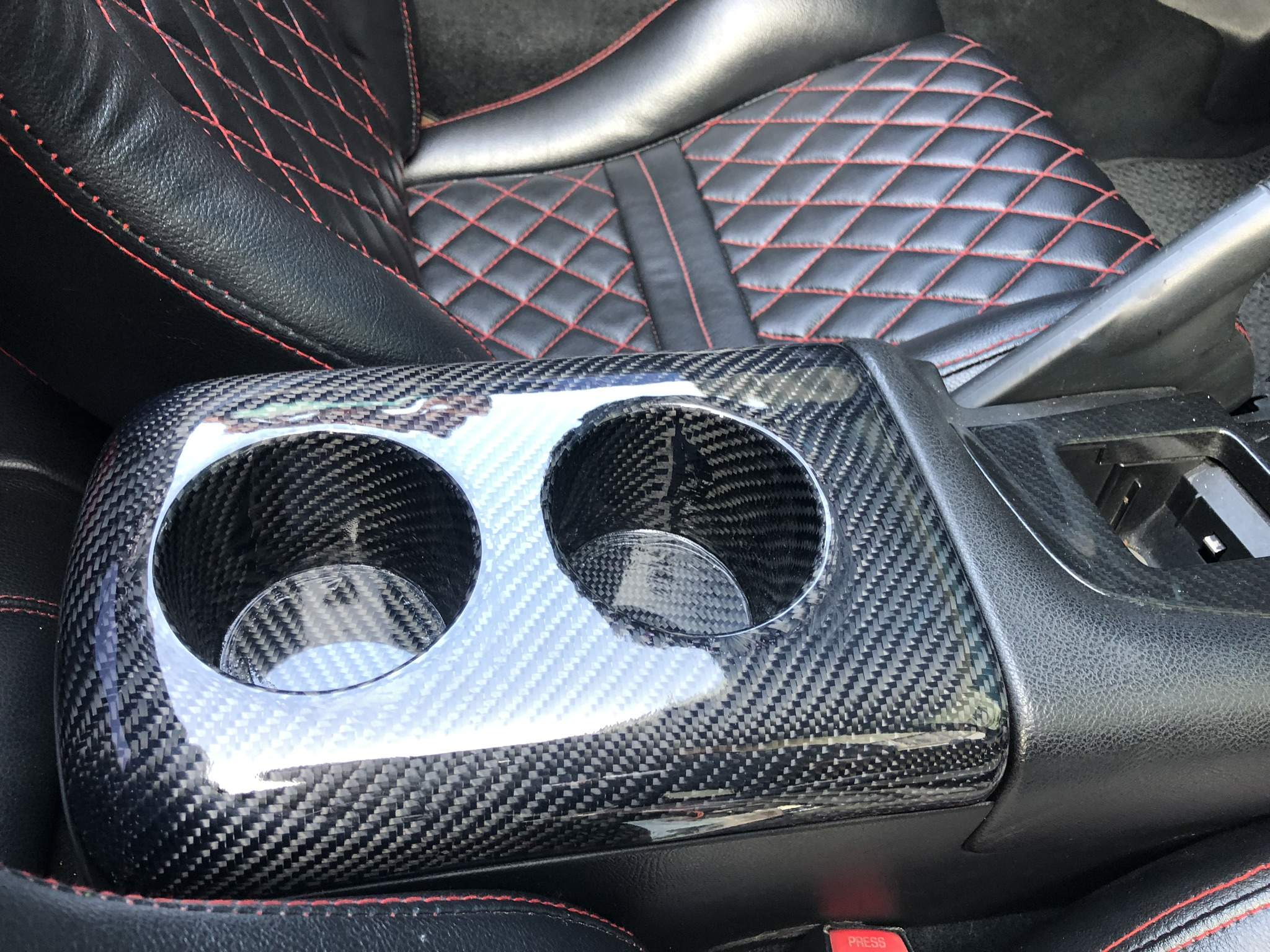 93-98 Toyota Supra JZA80 Carbon Fiber Center cup holders (LHD)