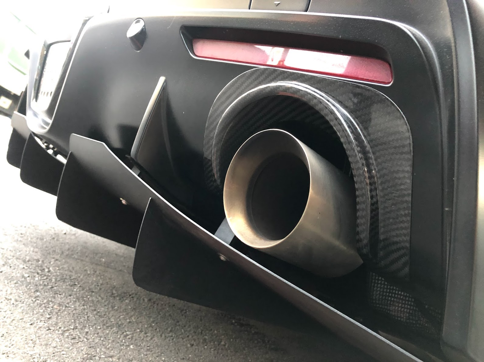 2020 up Supra Carbon rear exhaust shields