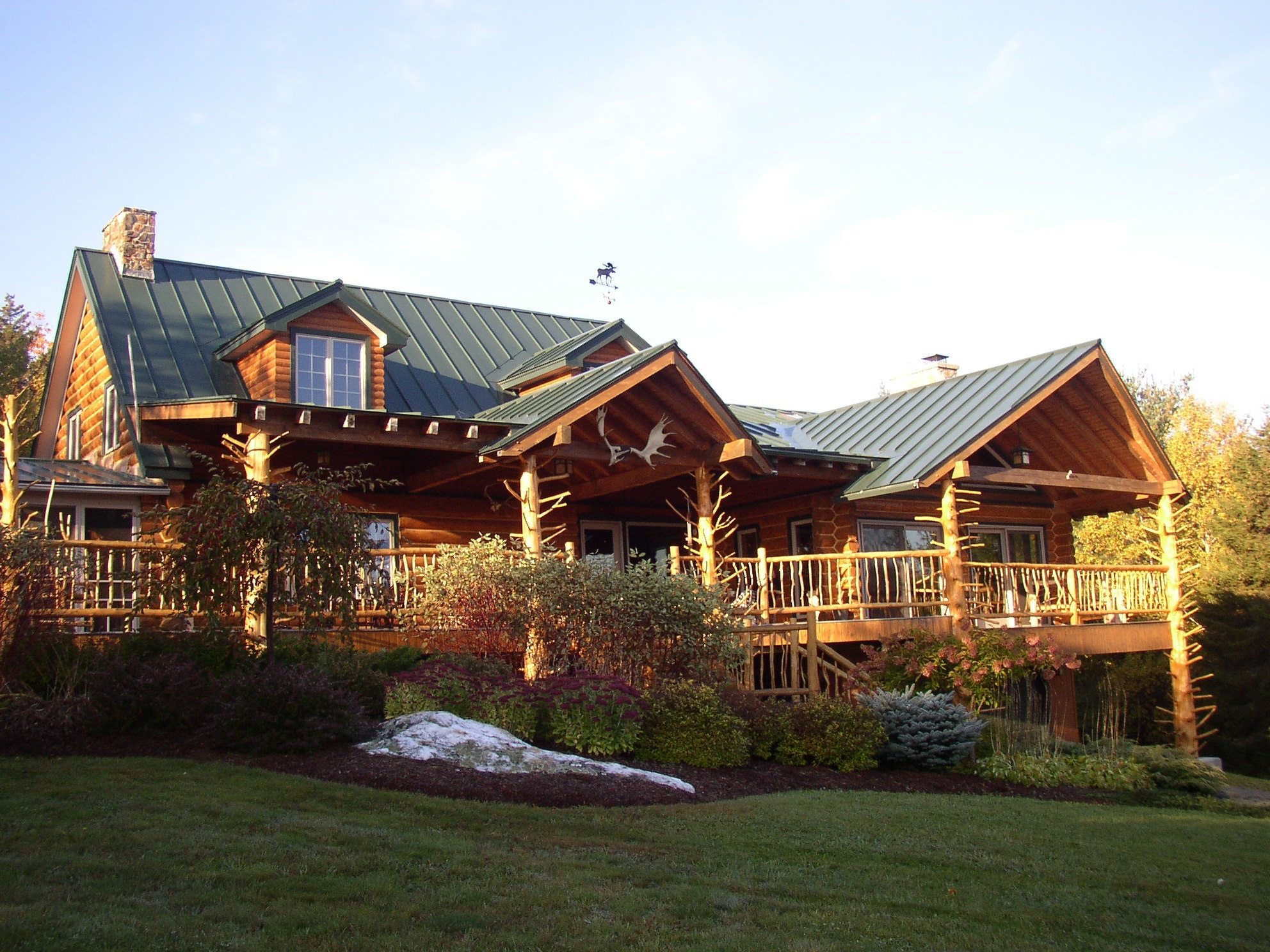 Log home B&B, Waterbury, Vermont