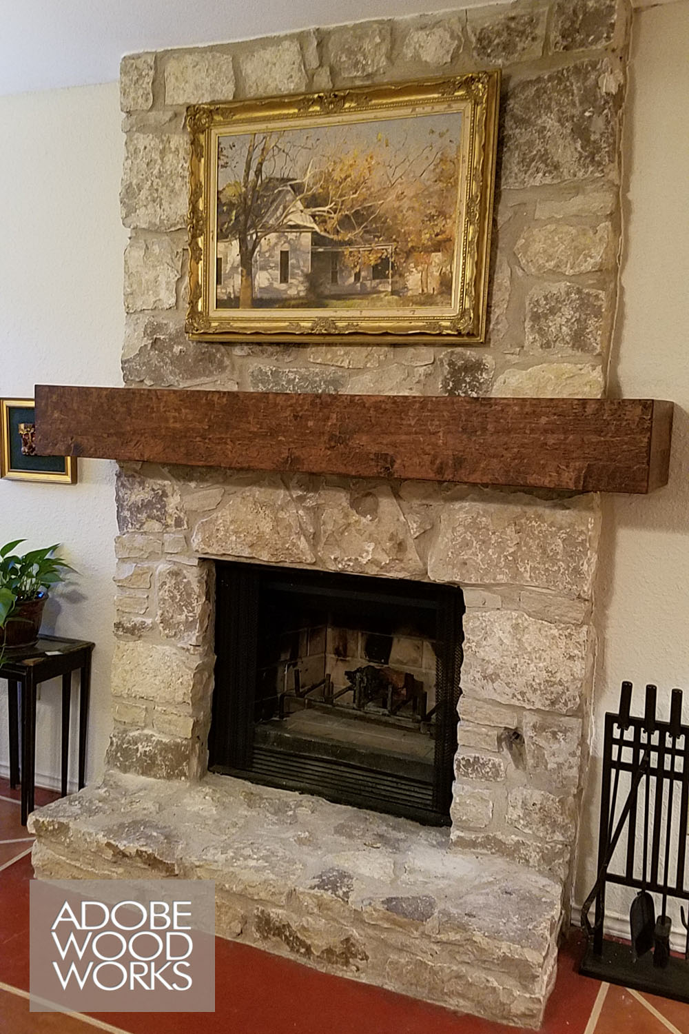 This is the first custom mantel I made!